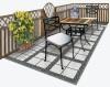 レトロな雰囲気が素敵な大理石テーブル&チェア3点セット